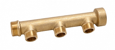 "Sanitary manifold type A Ø22 - inlet M 3/4"" - outlet M 1/2"" - end F 3/4"""