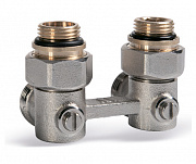 "Valve for compact radiators with 3/4""M x 3/4"" swivel (angular)"