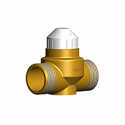 Two-way brass valve 2131 for fan-coils with pre-setting