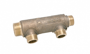"Heating manifold type D Ø30 - inlet M 3/4"" - outlet M 1/2"" - end M 1/2"""
