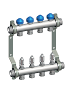 Manifold HKV 2013-VA 50mm Stainless Steel with Flow Meters for Underfloor Heating