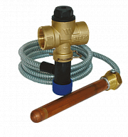 Safety drain valves for solid fuel boilers