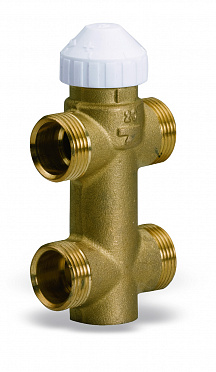 Three-way brass valve 4131 for fan-coils