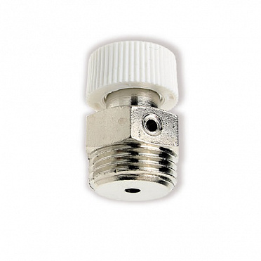 Air vent screw. Brass body nickel-plated with knurl